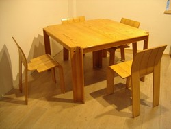 Gijs Bakker strip chair and table