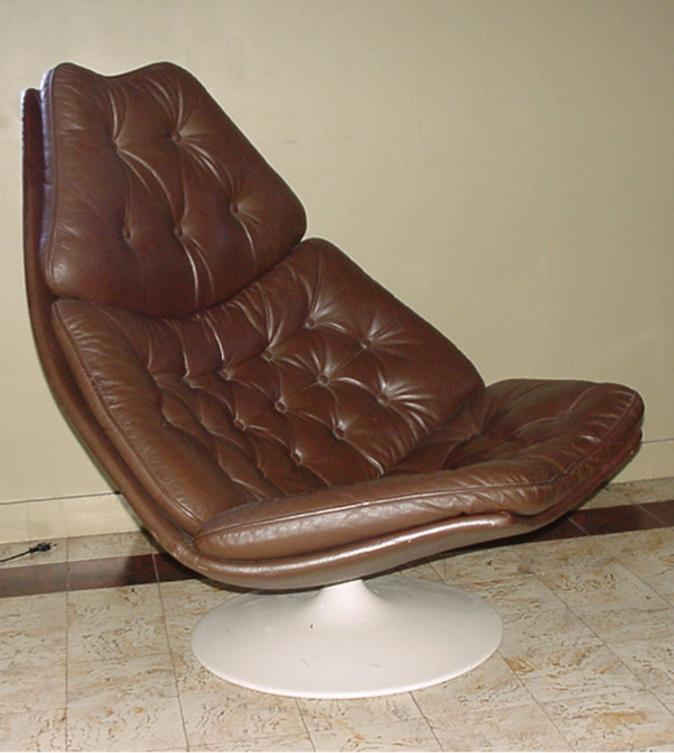 geofrey harcourt easy chair leather for artifort