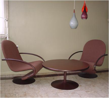 verner panton 123 chair and table