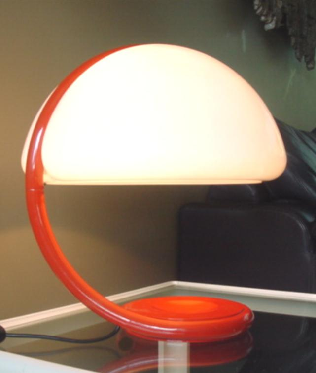 elio maetinelli serpente table lamp